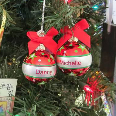 Danny and Michelle Ornaments
