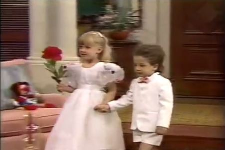 Michelle and Ben Flower Girl and Ring Bearer 1988