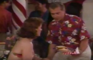 Ross brings Blake a plate 1995