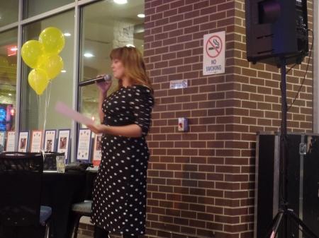 Lauren B. Martin at Karaoke