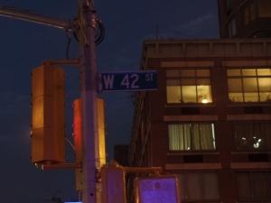 42nd Street Sign