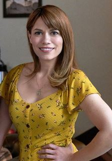 Bethany Joy in a yellow dress
